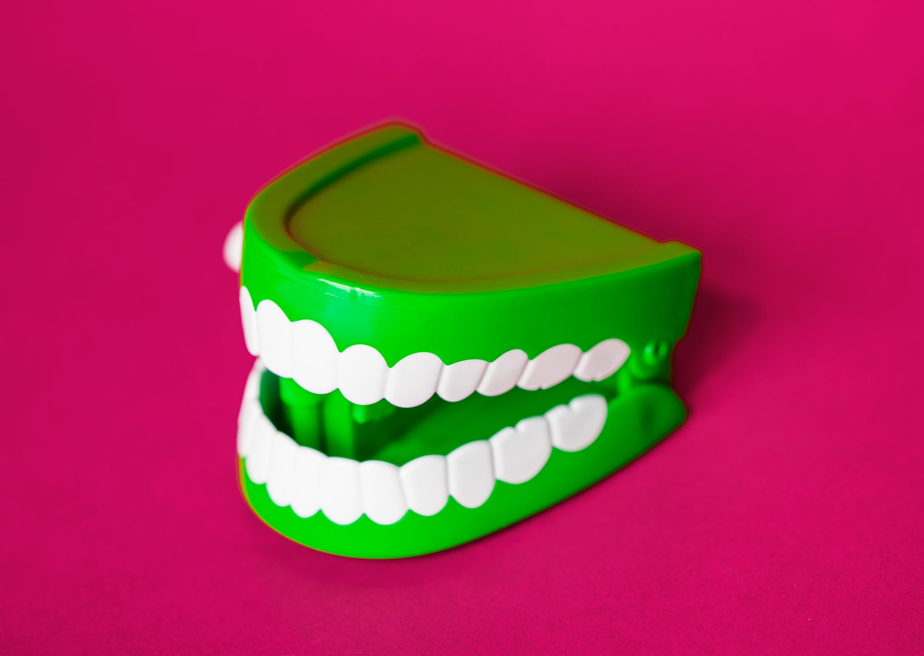 green and white denture toy